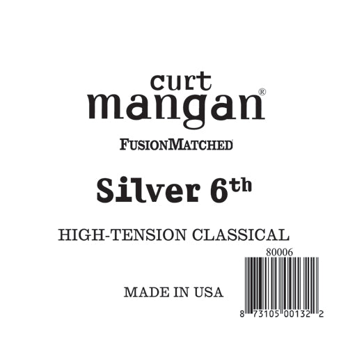 Curt Mangan Silver 6th High-Tension Classic Single String