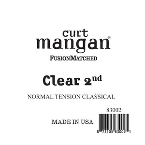 Curt Mangan Clear 2nd Normal Tension Single String - Dynamic Music Distribution