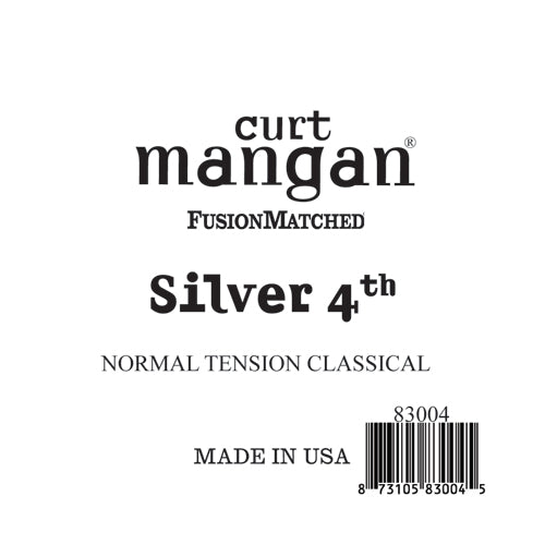 Curt Mangan Silver 4th Normal Tension Single String - Dynamic Music Distribution