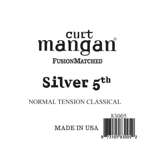 Curt Mangan Silver 5th Normal Tension Single String - Dynamic Music Distribution