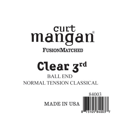 Curt Mangan Clear 3rd Ball End Normal Tension Single String - Dynamic Music Distribution