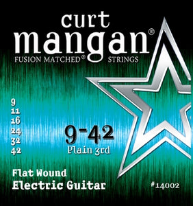 Curt Mangan 9-42 Flatwound Electric Guitar Strings - Guitar Gear Pro