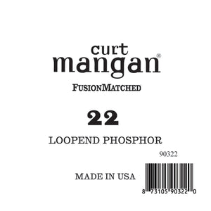 Curt Mangan 22 Loop End PhosPhor Bronze Single String - Dynamic Music Distribution