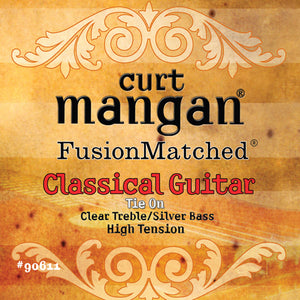 Curt Mangan High Tension Classical (Clear/Silver) Classical Guitar Strings - Guitar Gear Pro