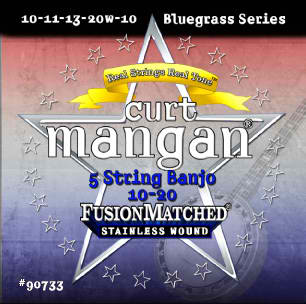 Curt Mangan 5-String Banjo Traditional Med 10-20 String Set - Dynamic Music Distribution