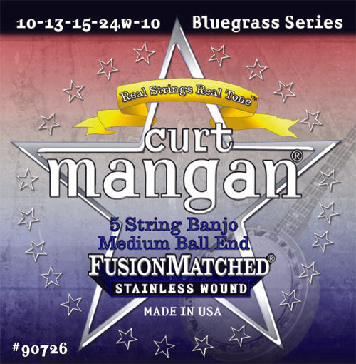 Curt Mangan 5-String Banjo Med Ball-End String Set - Dynamic Music Distribution