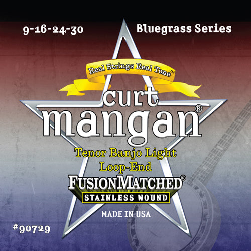 Curt Mangan Tenor Banjo Light Loop-end Stainless Steel String Set
