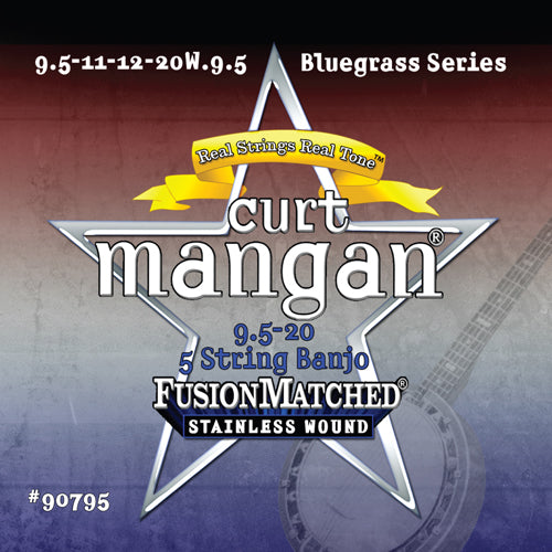 Curt Mangan 5-String Banjo Light 9.5-20 String Set - Dynamic Music Distribution