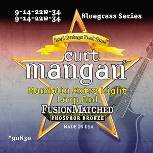 Curt Mangan Mandolin Extra Light (9-14-22-34) Strings - Dynamic Music Distribution