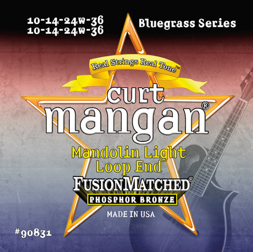 Curt Mangan Mandolin Light Phos (10-14-24-36) Strings - Dynamic Music Distribution