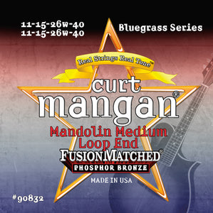 Curt Mangan Mandolin Med Phos (11-15-26-40) Strings - Dynamic Music Distribution