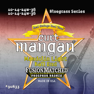 Curt Mangan Mandolin Light Phos (10-14-24-36) Ball-End Strings - Dynamic Music Distribution