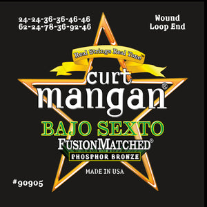 Curt Mangan Bajo Sexto Phosphor Bronze Acoustic Guitar Strings - Dynamic Music Distribution