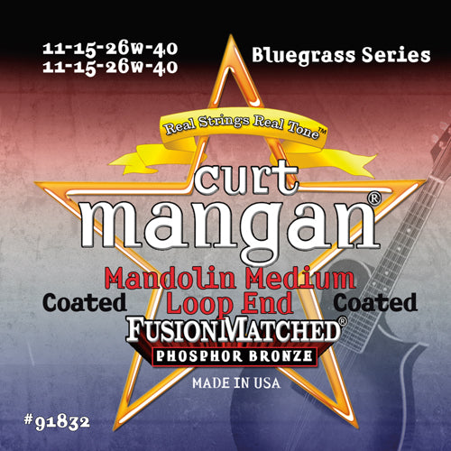 Curt Mangan Med Mandolin Coated Strings - Dynamic Music Distribution