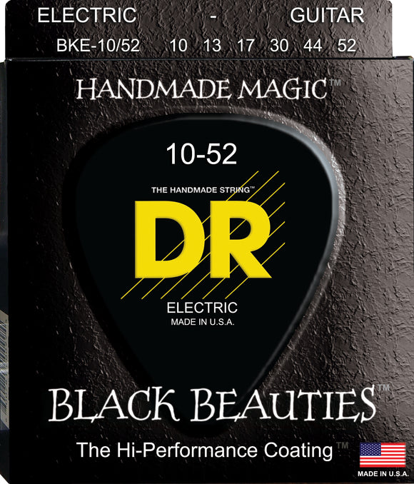 DR Black Beauty Electric Guitar Strings 10-52 - Dynamic Music Distribution