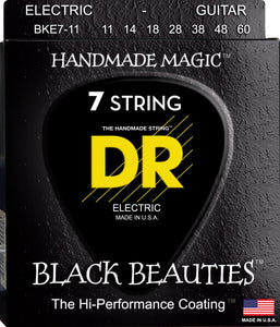 DR Black Beauty Electric Guitar 7Strings 11-60 - Dynamic Music Distribution