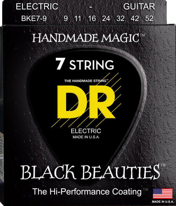 DR Black Beauty Electric Guitar 7Strings 9-52 - Dynamic Music Distribution