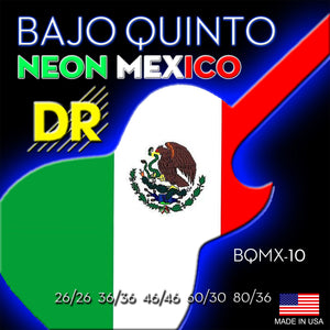DR Neon Mex Flag Bajo Quin Strings - Dynamic Music Distribution