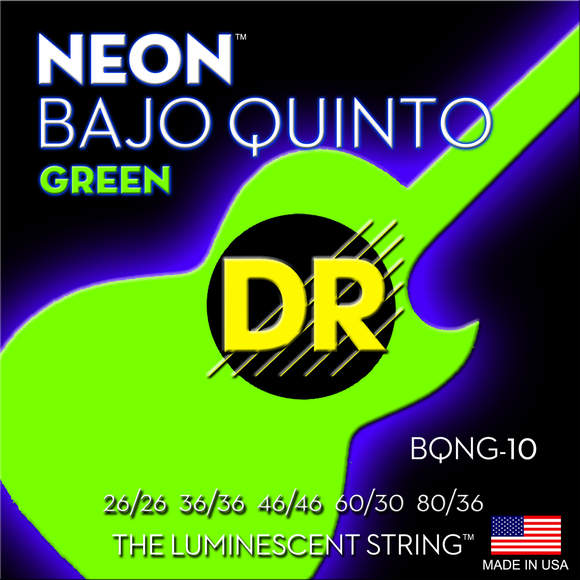 DR Neon Green Bajo Quin Strings - Dynamic Music Distribution