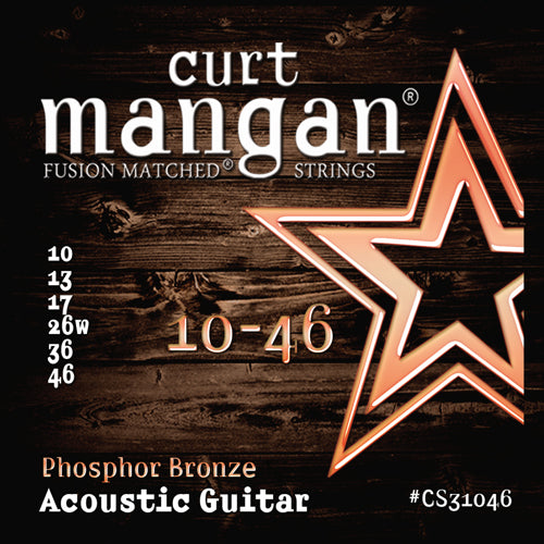 Curt Mangan 10-46 PhosPhor Bronze Acoustic Guitar Strings - Dynamic Music Distribution