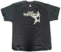 Curt Mangan Extra Large T-Shirt 100% Cotton black - Dynamic Music Distribution