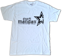Curt Mangan Medium T-Shirt 100% Cotton white - Dynamic Music Distribution