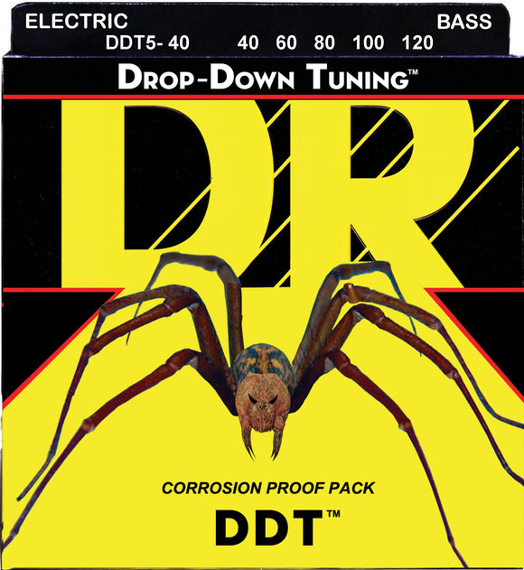 DR DDT Bass Guitar 5Strings 40-120 - Dynamic Music Distribution