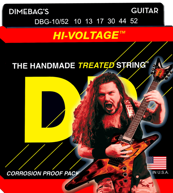 DR Hi-Voltage Electric Guitar Strings 10-52 - Dynamic Music Distribution