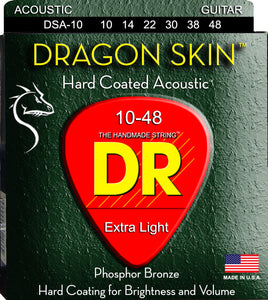 DR Dragon Skin Acoustic Guitar Strings 10-48 - Dynamic Music Distribution