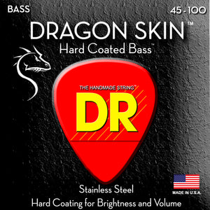 DR Dragon Skin Bass Guitar Strings 45-100 - Dynamic Music Distribution