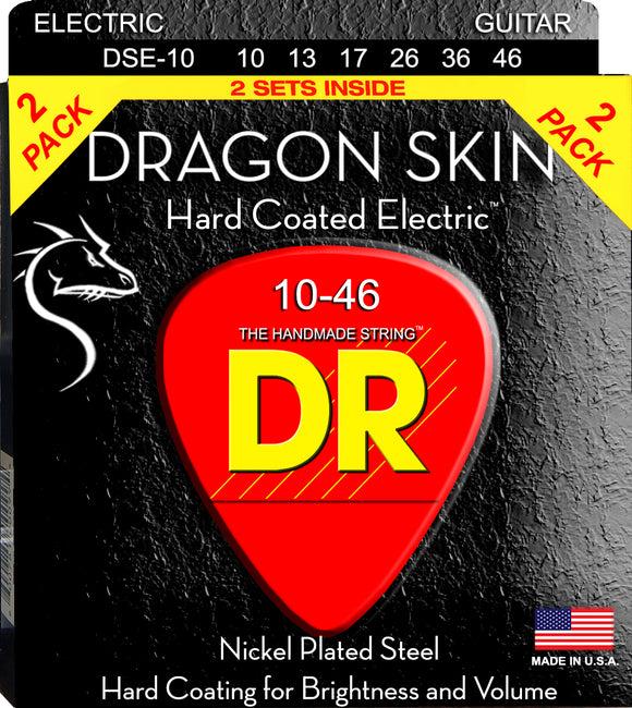 DR Dragon Skin Electric Guitar Strings 10-46 2Pk - Dynamic Music Distribution