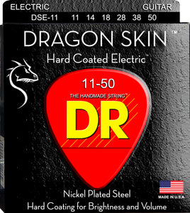 DR Dragon Skin Electric Guitar Strings 11-50 - Dynamic Music Distribution