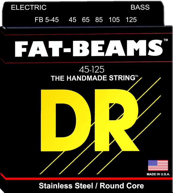 DR Fat-Beam Bass Guitar Strings 45-105 - Dynamic Music Distribution
