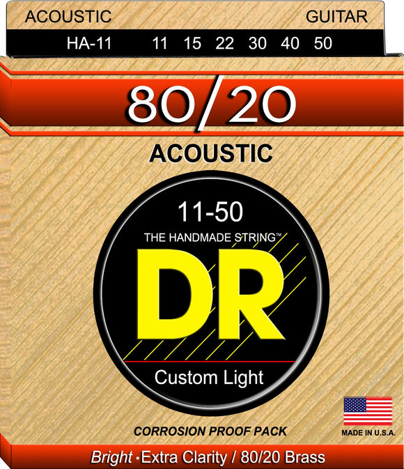 DR Hi-Beam Acoustic Guitar Strings 11-50 - Dynamic Music Distribution