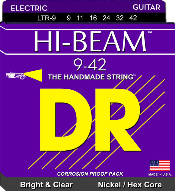 DR Hi-Beam Electric Guitar Strings 9-42 - Dynamic Music Distribution