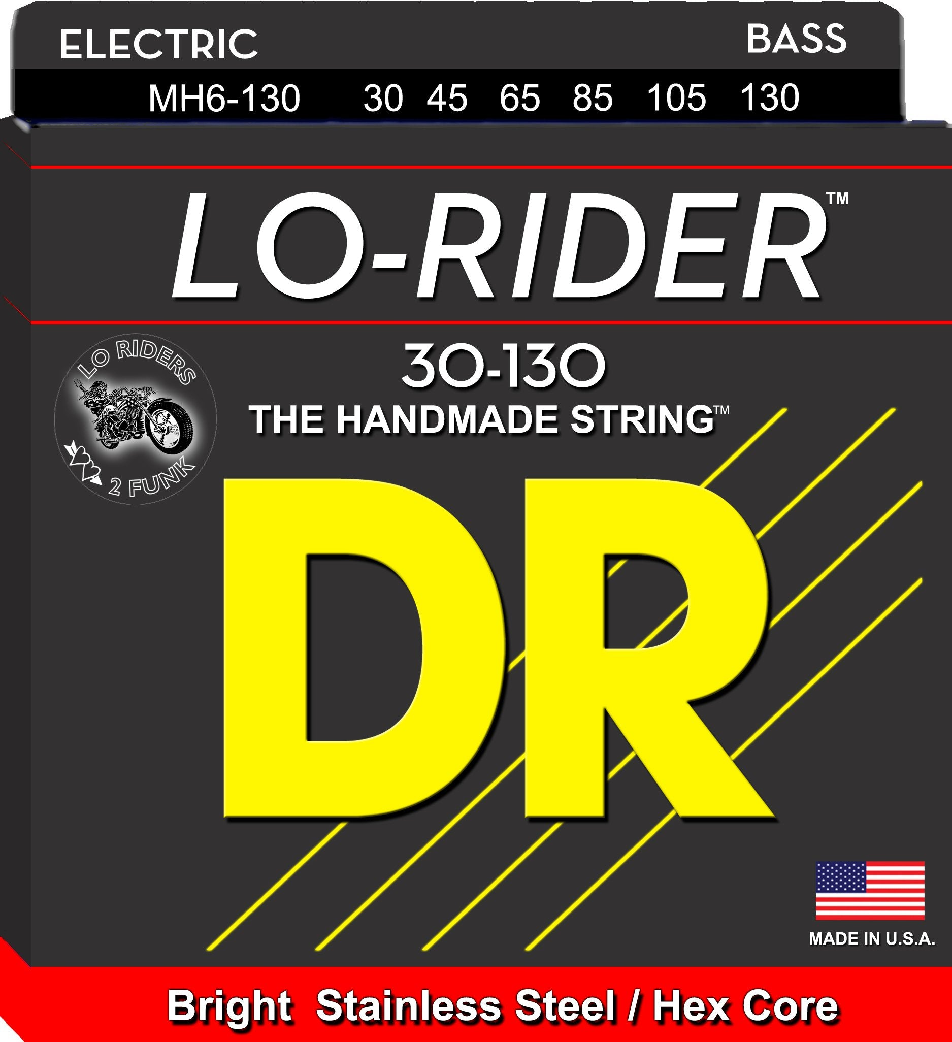 DR Lo-Rider Bass Guitar 6Strings 30-130 - Dynamic Music Distribution