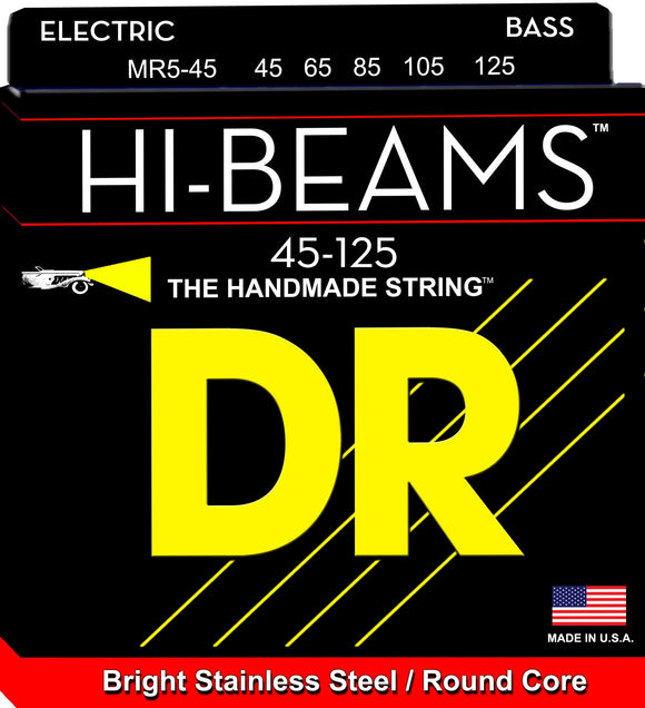 DR Hibeam Bass Guitar 5Strings 45-125 - Dynamic Music Distribution