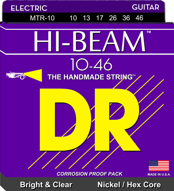 DR Hi-Beam Electric Guitar Strings 10-46 - Dynamic Music Distribution