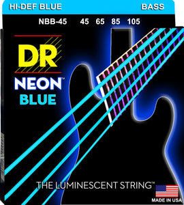 DR Neon Blue Bass Guitar Strings 45-105 - Dynamic Music Distribution