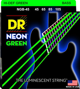 DR Neon Green Bass Guitar Strings 45-105 - Dynamic Music Distribution