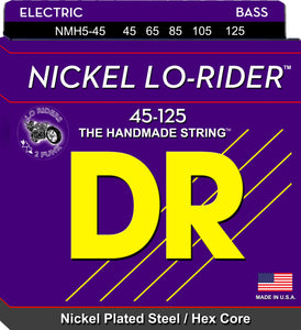 DR Nickel Lo-Rider Bass Guitar 5Strings 45-125 - Dynamic Music Distribution