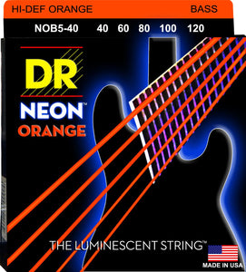 DR Neon Orange Bass Guitar 5Strings 40-120 - Dynamic Music Distribution