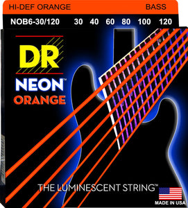 DR Neon Orange Bass Guitar 6Strings 30-120 - Dynamic Music Distribution