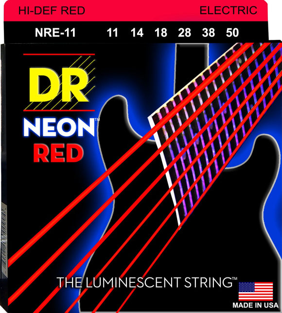 DR Neon Red Electric Guitar Strings 11-50 - Dynamic Music Distribution