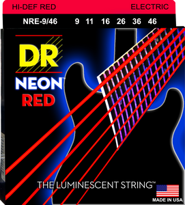 DR Neon Red Electric Guitar Strings 9-46 - Dynamic Music Distribution