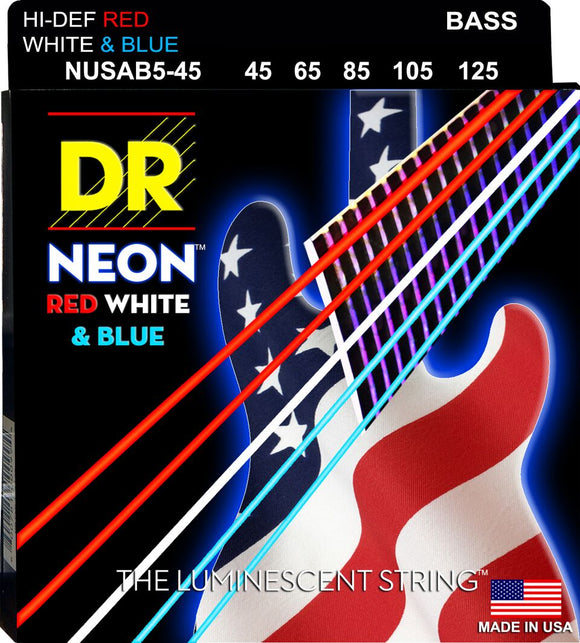 DR Neon USA Bass Guitar 5Strings 45-125 - Dynamic Music Distribution