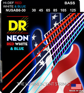 DR Neon USA Bass Guitar 6Strings 30-125 - Dynamic Music Distribution