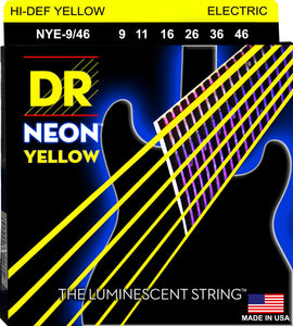 DR Neon Ylw Electric Guitar Strings 9-46 - Dynamic Music Distribution