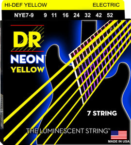 DR Neon Ylw Electric Guitar 7Strings 9-52 - Dynamic Music Distribution