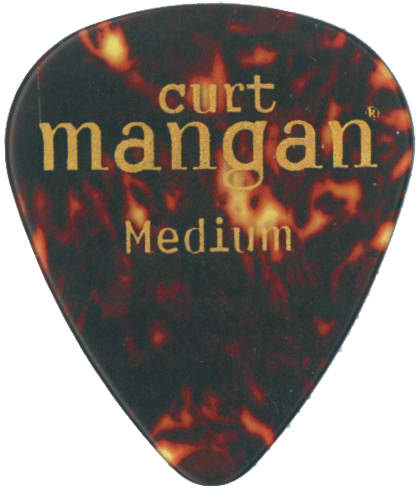 Curt Mangan Medium Celluloid Shell (12-Pak) Guitar Picks - Dynamic Music Distribution